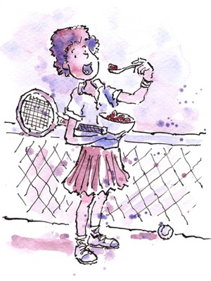 cartoon portrait tennis